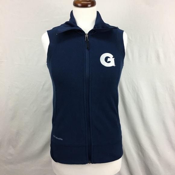 Columbia Jackets & Blazers - Columbia Navy Georgetown Fleece Vest